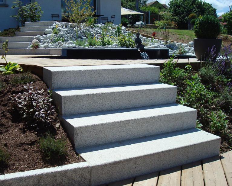Réalisations d\'escaliers en pierre en exterieurs pour le jardin ...